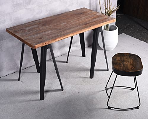 Industrial Table Legs Greensen 4Pcs Adjustable Height 20mm Bar Breakfast Worktop Support Table Kitchen Leg Adjustable Metal Legs for Breakfast Bar 24 in Bearing weight: 300 kg // 661 lb
