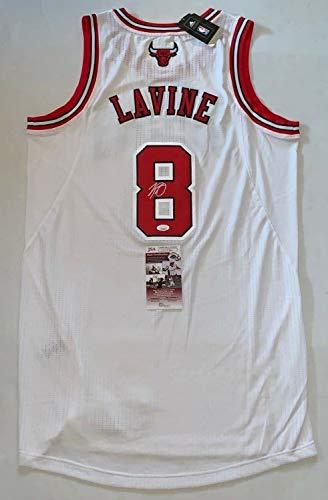 Zach Lavine Autographed Signed White Chicago Bulls Adidas Authentic Jersey  Memorabilia JSA 88ea84980