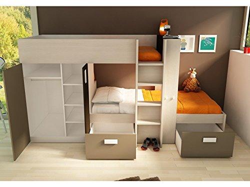Etagenbett Julien : Kinderbett hochbett etagenbett julien cm weiß braun
