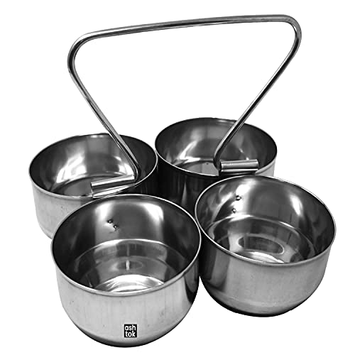 Ashtok Stainless Steel Solid Bowls Set   Pack of 1, Silver