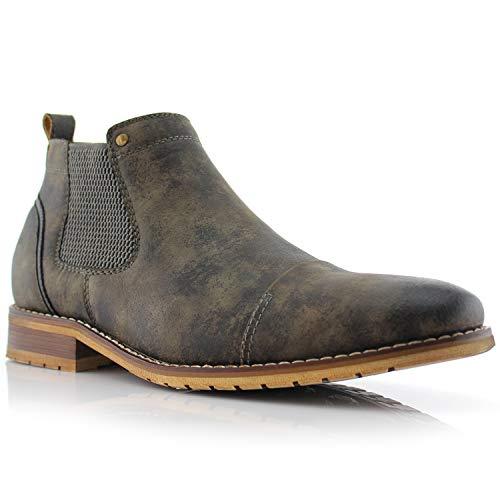 Ferro Aldo Sterling MFA606325 Mens Casual Chelsea Slip on Ankle Boots - Grey Size 8