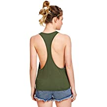 SweatyRocks Women's Sleeveless Racerback Tank Top Workout Gym Sport Vest Tops