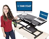 Stand Steady Flexpro Hero Dual Level Standing Desk - Easily Sit or Stand in Seconds - Large Work Space w/Removable Extra Level for Keyboard & Mouse (Large (37'))