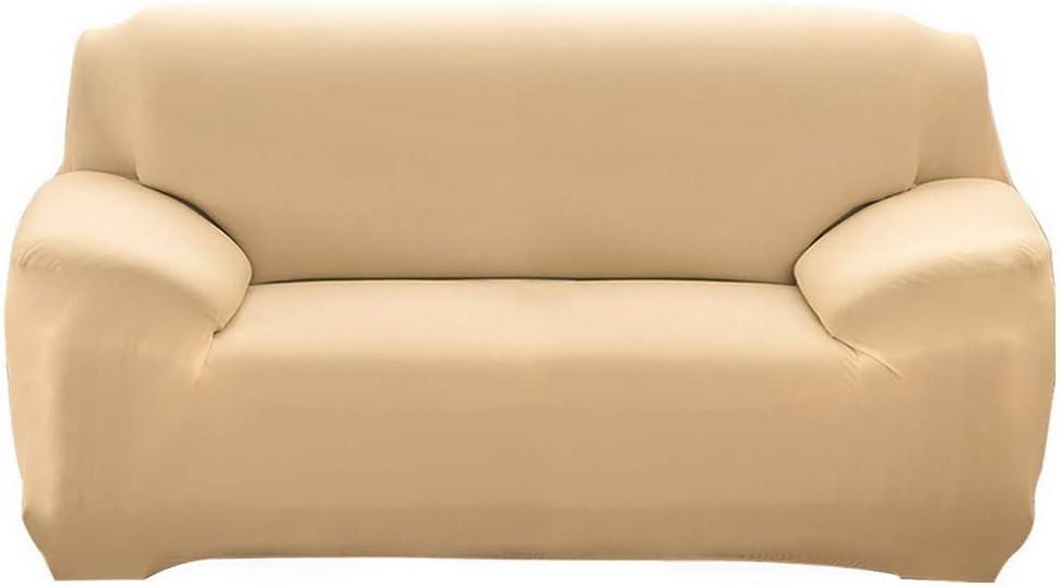 2 Sitzer+3 Sitzer grey Polyester ChicSoleil Sofa Throws Sofa Cover Elastic Sofa Cover Plain Stretch Sofa Cover Set of 2 for L Shape Sofa