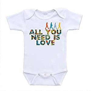 All You Need Is Love the Beatles Parody Inspired Baby Onesies