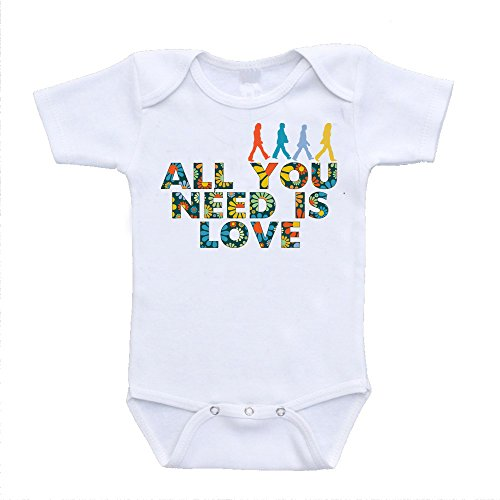 (All You Need Is Love the Beatles Parody Inspired Baby Onesies (6-9 Months))