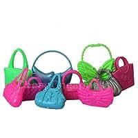 Hot Cute Mix 10pcs Different Barbie Handbag Shoulderbag For Barbie Doll Acces...