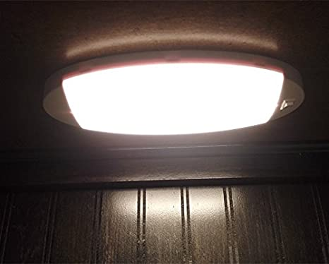 Facon Nuovo LED luminoso a cupola a 12 V luce interna a soffitto con interruttore on // off per camper marina e veicoli roulotte rimorchio barca