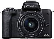 Canon EOS M50 Mark II + EF-M 15-45mm is STM Kit Black