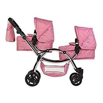 New Baby Girls Double Twin poussette landau poussette Raincover Buggy