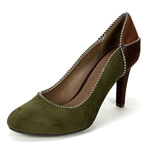 Rialto Cecily' Women's Heel, Forest Green - 7.5 (Forest Green Heels)