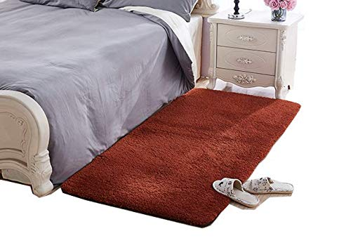 Super Soft Coffee Area Rug Kids Rugs Artic Velvet Mat With