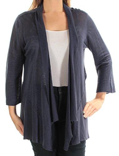 Alfani $70 Womens New 1727 Navy Long Sleeve Open Cardigan Casual Top L B+B