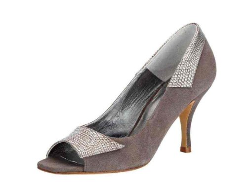 Patrizia Dini Women's Peep-Toe Grey - Taupe F4GRL