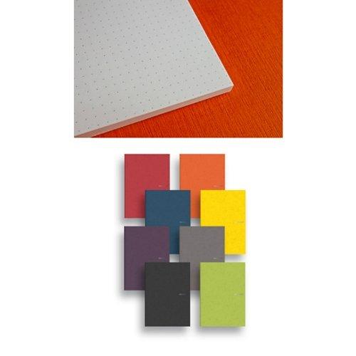 Ecoqua Dot Notebook 5.8X8.25 Raspberry