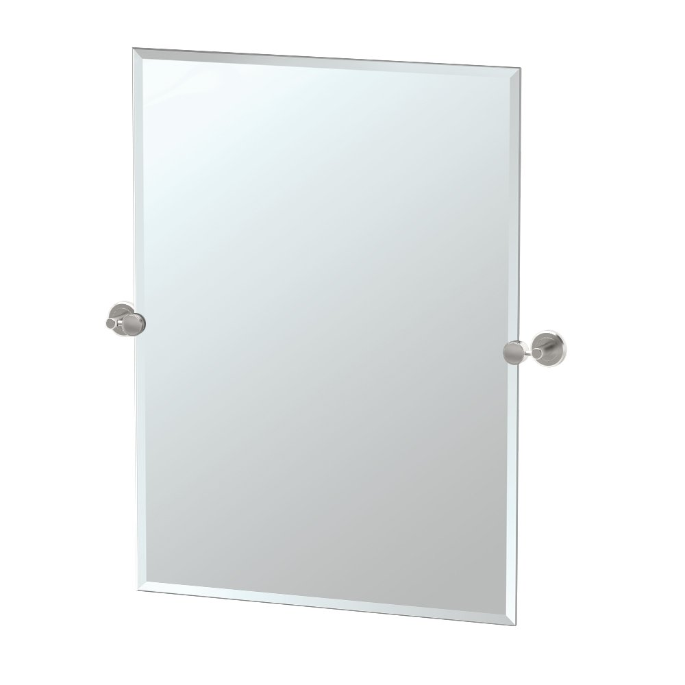 Gatco Latitude II Rectangle Mirror,, Satin Nickel, 31.5 Inch, Frameless Rectangle by Gatco