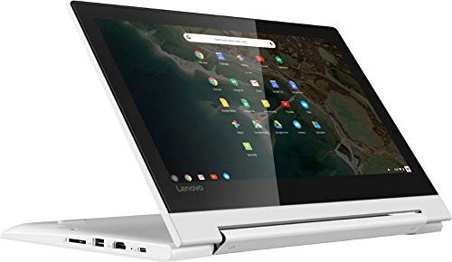 2020 Lenovo 2-in-1 11.6″ Convertible Chromebook Touchscreen Laptop Computer/ Quad-Core MediaTek MT8173C (4C/ 2X A72 + 2X A53)/ 4GB Memory/ 32GB eMMC/ 802.11ac WiFi/ Bluetooth/ Type-C/ White/ Chrome OS