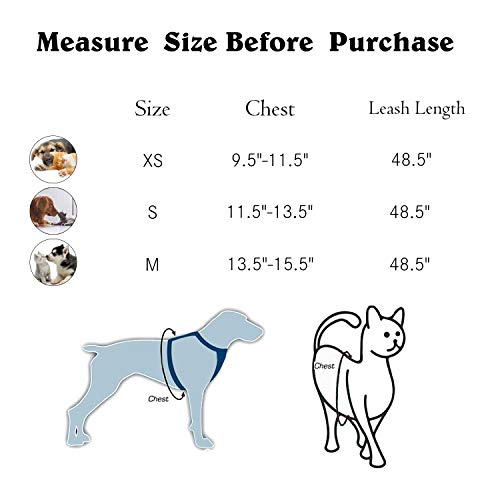 Kamots Beauty Escape Proof Cat Harness and Leash for Walking Adjustable Soft Mesh Pet Vest with Lead for Kitten Puppy Rabbit -(GridPink,S)