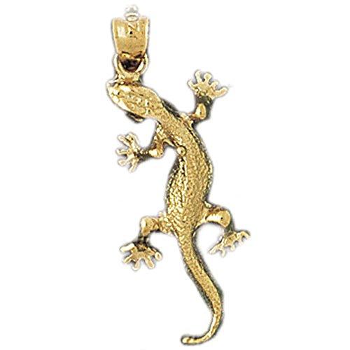 Jewels Obsession Lizard Pendant | 14K Yellow Gold Lizard Pendant - 28 mm ()
