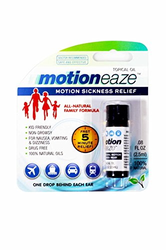 MotionEaze Sickness Relief, All-Natural Topical Liquid, 2.5 ml (Natural Remedies For Car Sickness In Toddlers)