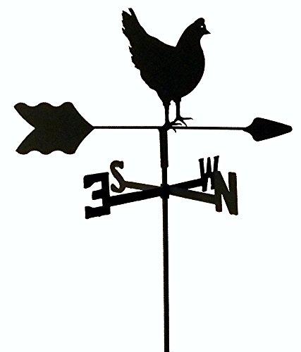Hen Chicken Garden Style Weathervane Wrought Iron (Chicken Weathervane Coop)