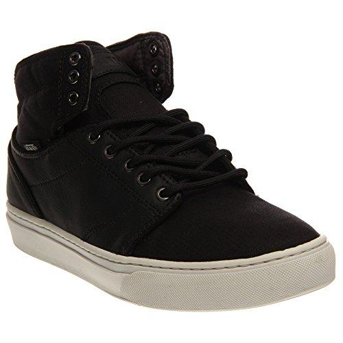 VANS Men ALOMAR Leather Hi Sneaker Skate Boot Shoes (7.5, Black/Star - Sneaker Leather Hi Star