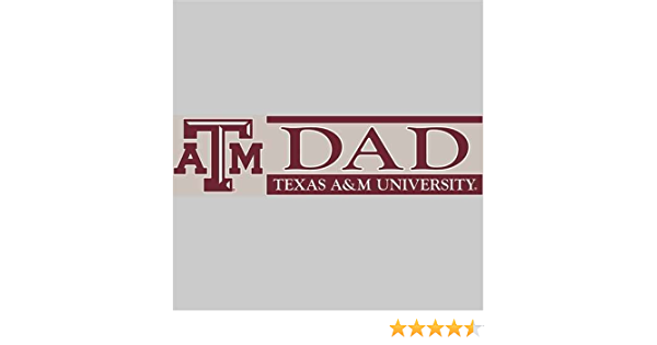 TEXAS A/&M AGGIES DAD STICKER-PROUD TEXAS A/&M DAD PEEL AND STICK DECAL