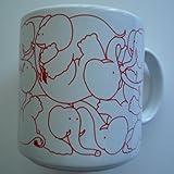 Animates Red Daytime Elephants Mug - Taylor & Ng