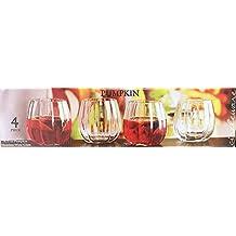 Pumpkin Set of 4 - 9.75 oz. Stemless Wine Glasses