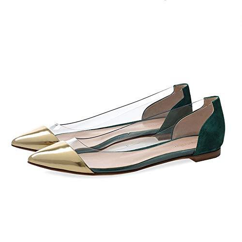 Morbida Zeppa Da Lavoro A Scarpe ASHOP Scarpe Scarpe Sneakers Piatte Verde Basse Donna Donna Scarpe Punta Più Donna Estive v6AwTxqT