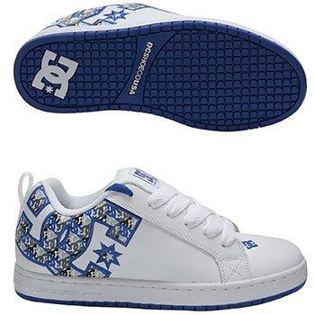 DC Men's Court Graffik SE Skateboarding Shoe 6.5 D(M) US White/Royal/Grey