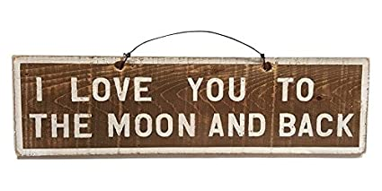 989804a5b4 Amazon.com: I Love You to the Moon & Back Wood Sign | Brandy ...