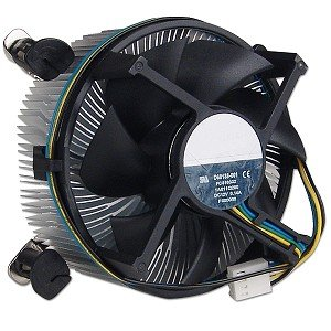 "Foxconn Socket 775 Copper Core/Aluminum Heat Sink & 3.5"" Fan w/4-Pin Connector up to Core 2 Duo 2.66 GHz"
