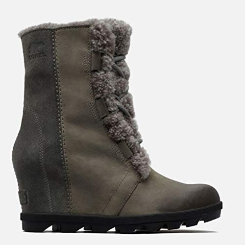 Sorel Joan of Arctic Wedge II Shearling Winter Boots - Women's Quarry -
