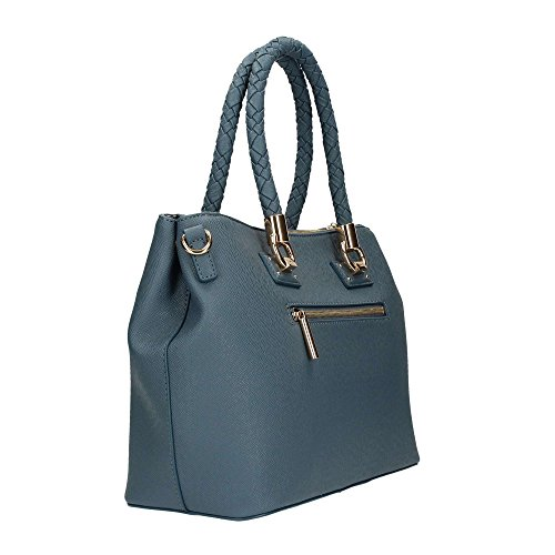 2 Jo Liu Zip Manhattan Satchel Cartables Blu qz5x1xawg