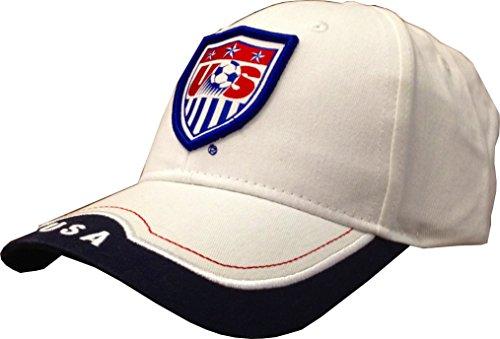 Rhinox USA 2014 Team Patch White Bent Brim Adjustable Buckle Hat/Cap