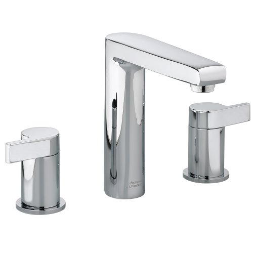 (American Standard 2590.801.002 Studio Widespread Faucet with Metal Lever Handle, Polished Chrome)
