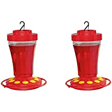 First Nature 3090 2-Pack 32 Ounce Hummingbird Nectar Flower Feeder- Made in the USA
