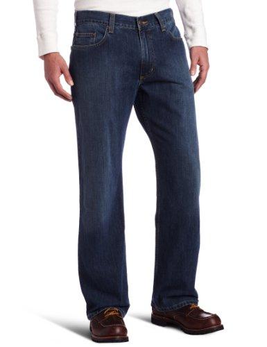 Carhartt Men's Loose Straight Denim Five Pocket Jean,Worn In Blue,38 x 36