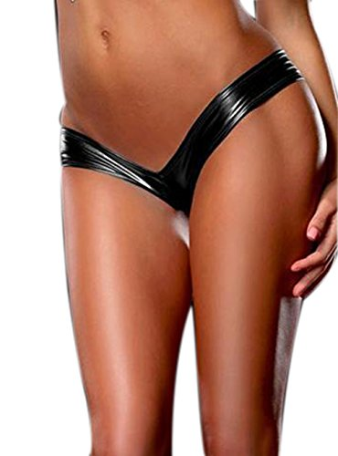 610367aa0ed jingjing1 Women Sexy Shiny Metallic Party Thong Panties Mini Club Tanga  Underwear Lingerie (One Size