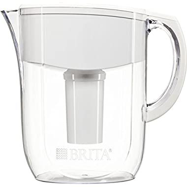 Brita 10 Cup Everyday BPA Free Water Pitcher with 1 Filter, White, Standard Packaging
