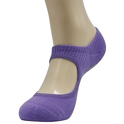 Ballet Grip Socks, Ristake Women's Non Slip Grip Socks for Barre Pilates Yoga,1/6 Pairs