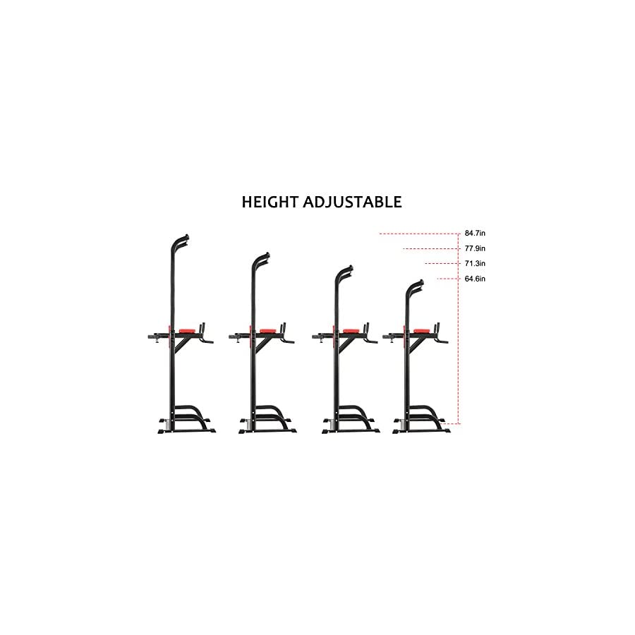 Jaketen Pull Up Stand Full Body Power Tower | Adjustable Power Tower Strength Power Tower Fitness Workout Station (Power Tower 1)