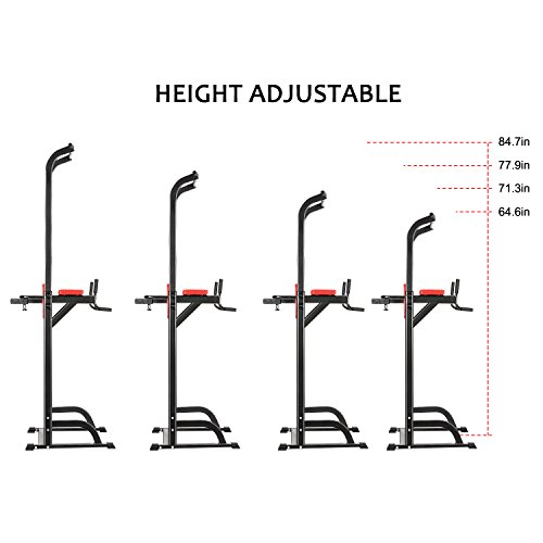 Hufcor Pull Up Stand Full Body Power Tower Adjustable Power Tower Strength Power Tower Fitness Workout Station by Hufcor (Image #3)