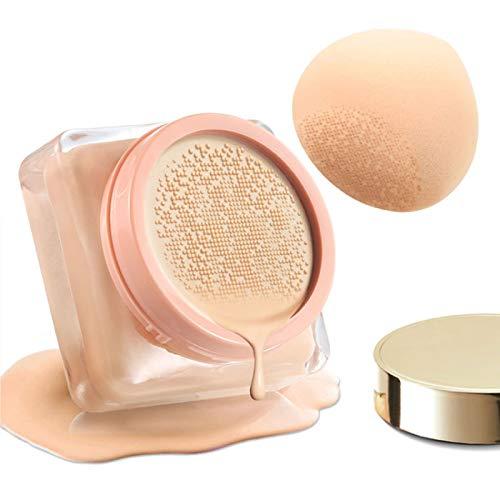 Air Cushion CC Foundation Mushroom BB Cream Brightening Skin Tone Moisturizing Dry Face Makeup Light Coverage Pores(13g)