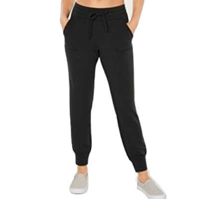 32 DEGREES Fleece Joggers Black Size Large at Women's Clothing store