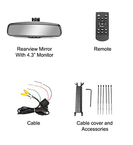 Master Tailgaters OEM Rear View Mirror with 4.3'' Auto Adjusting Brightness LCD + Manual Dimming - Universal Fit by Master Tailgaters (Image #8)