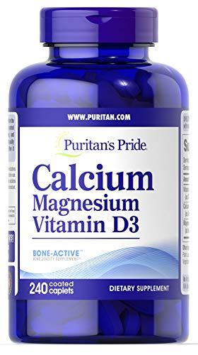 Puritan's Pride Calcium Magnesium with Vitamin D-240 Caplets