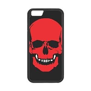 iPhone 6 Plus 5.5 Inch Cell Phone Case Black Skull Cover KWU Custom Design Phone Case