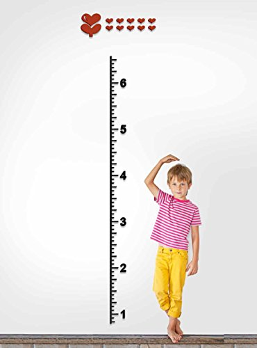 DecorSmart Plastic Growth Chart Ruler Wall Stickers, Large Plastic Ruler to Measure Children Growing by DecorSmart